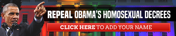 Repeal Obama's Homosexual Decrees
